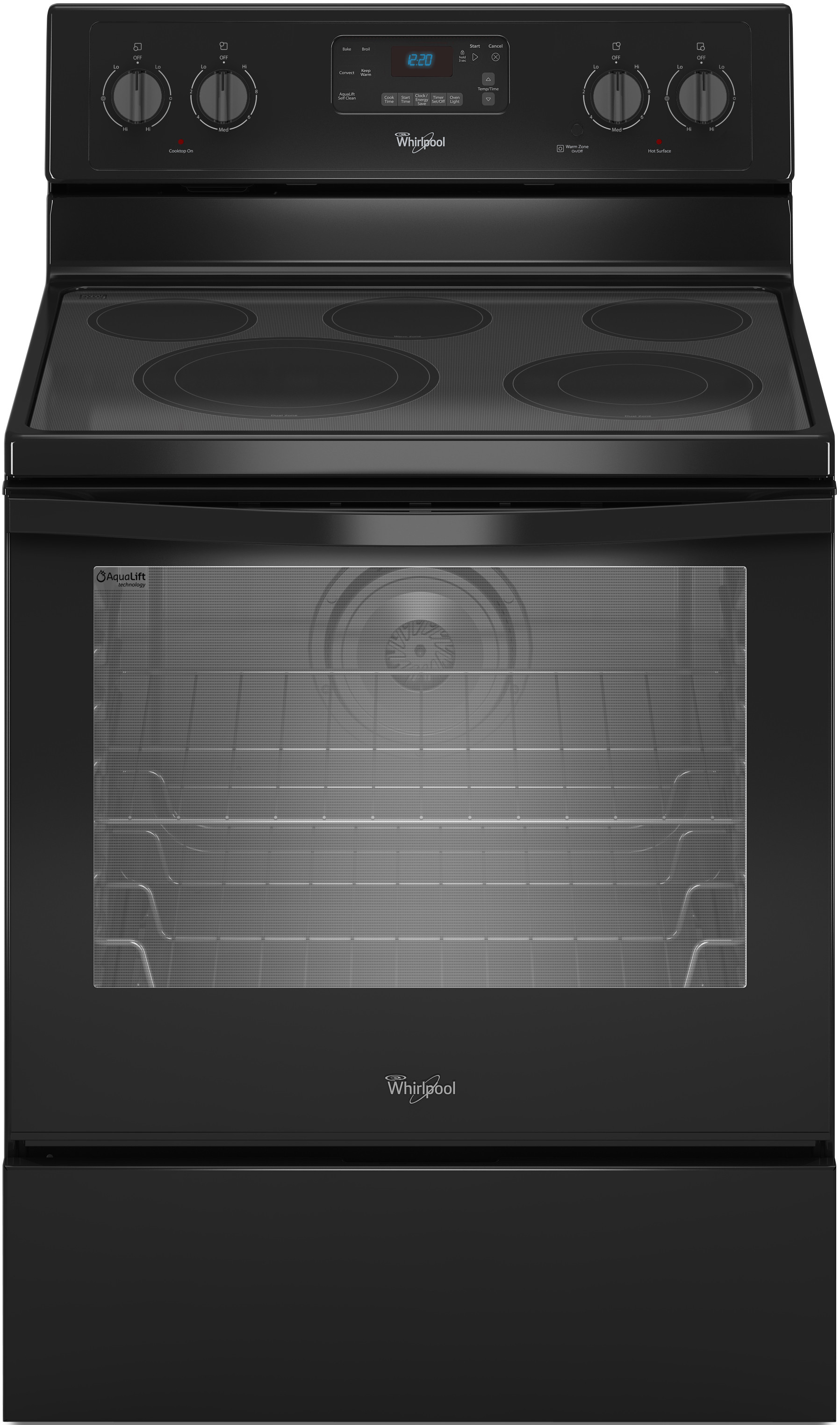 Whirlpool Wfe540h0eb 30 Inch Freestanding Electric Range With Convection  Accubake  Flexheat