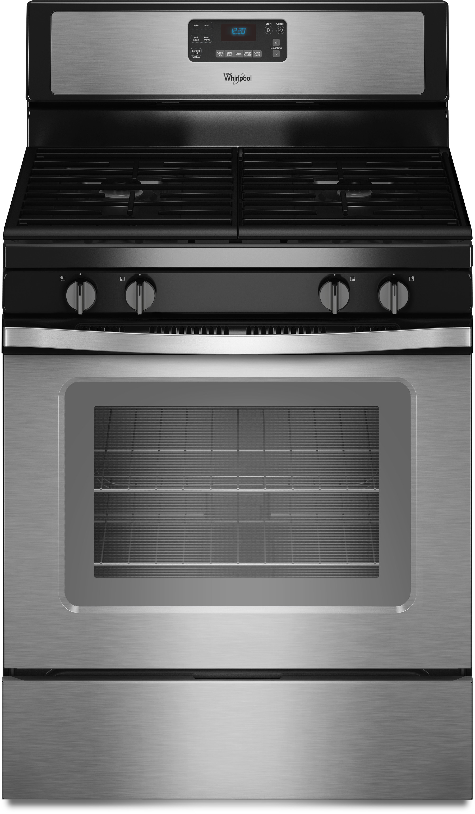 Whirlpool Wfg515s0es 30 Inch Freestanding Gas Range With Accubake Sdheat Burners Accusimmer Burner Self Cleaning 4 Sealed 5 0 Cu Ft