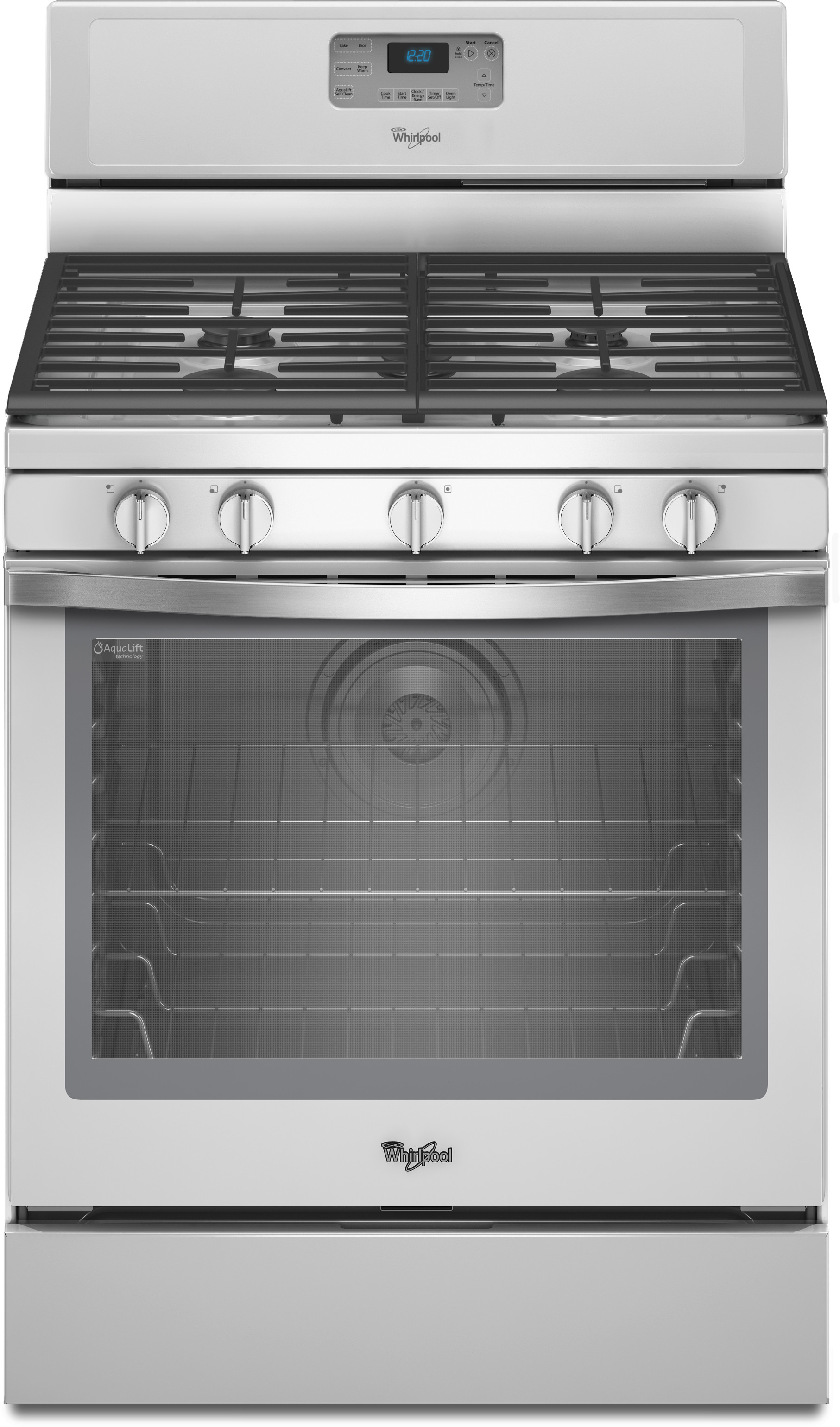 Whirlpool Wfg540h0eh 30 Inch Freestanding Gas Range With Sdheat Burners Aqualift Self Clean Accusimmer Burner Fan Convection Temperature Sensor