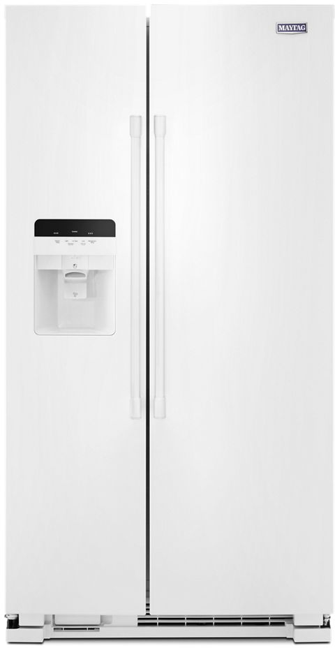 Maytag Mss25c4mgw 36 Inch Side By Side Refrigerator With Ice And Water Dispenser Everydrop Water Filter Gallon Door Bins Frozen Pizza Storage Snack Deli Drawer Humidity Controlled Freshlock Crisper Fingerprint Resistant Finish 24 5 Cu Ft Capacity