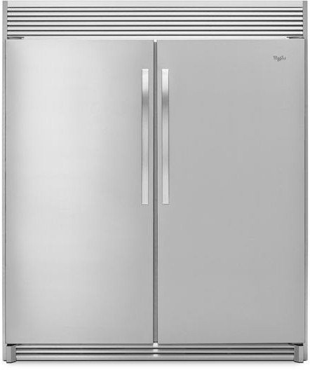 Whirlpool Whrefr1 Side By Side Column Refrigerator Freezer Set With 31 Inch Freezer And 31 Inch Refrigerator In Stainless Steel