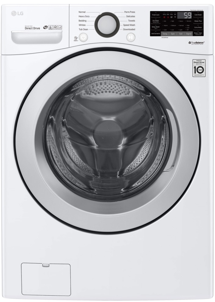 Lg Wm3500cw 27 Inch Front Load Smart Washer With 4 5 Cu