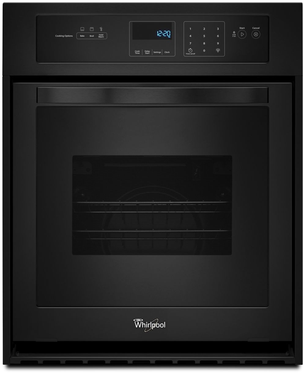 Whirlpool Wos11em4eb 24 Inch Single Electric Wall Oven With 3 1 Cu Ft Capacity 3600 Watt Broil Element Dual Interior Lighting Delay Cook Setting Star K Certified Sabbath Mode Ada Compliant And Keep Warm