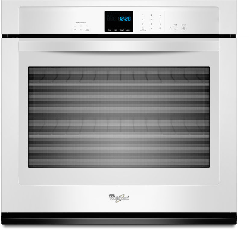 Whirlpool Wos51ec0aw 30 Inch Single Electric Wall Oven With 5 0 Cu  Ft  Capacity  Accubake