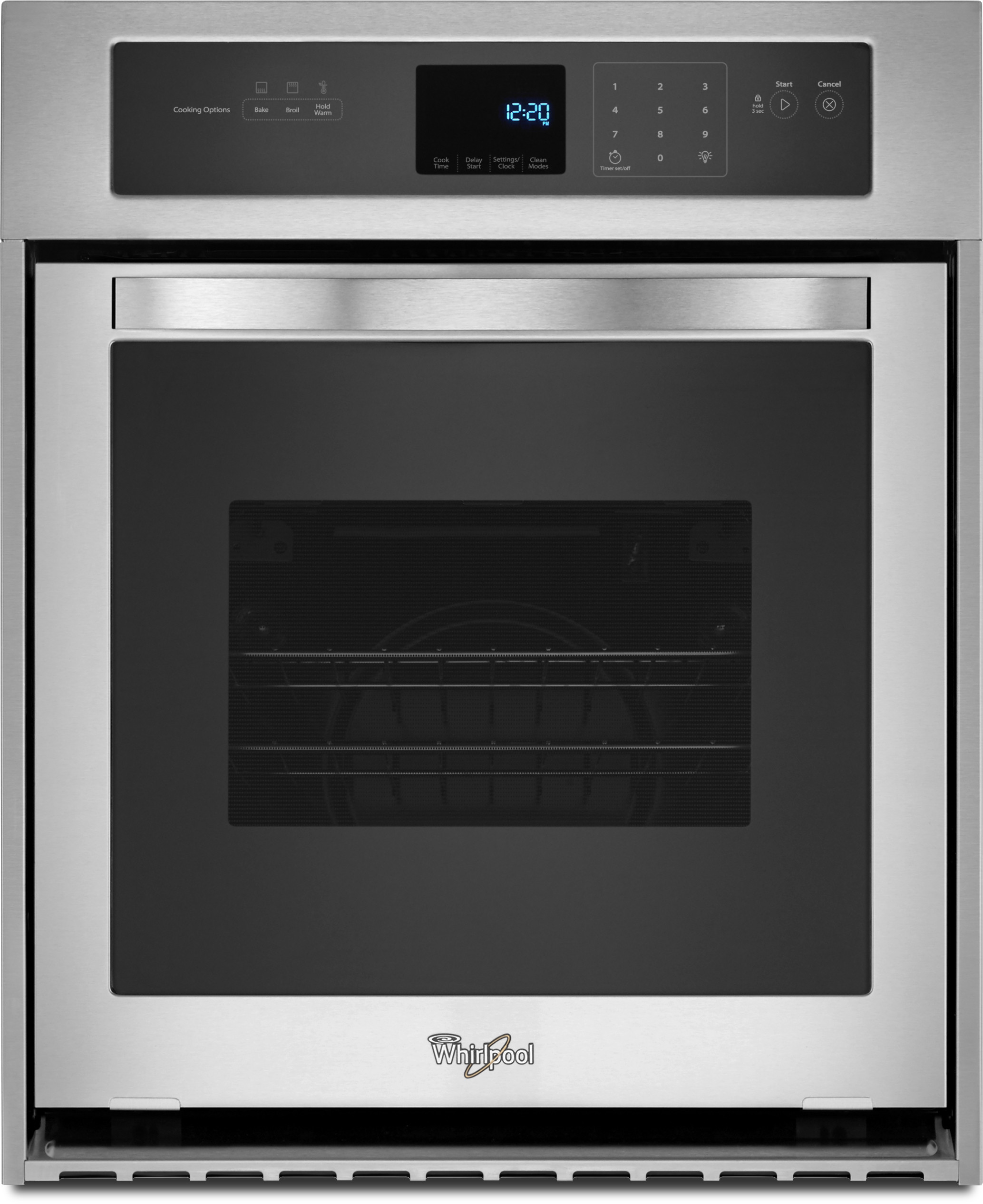 Whirlpool WOS51ES4ES 24 Inch Single Electric Wall Oven with 3.1 cu. ft.  Capacity, 3600 Watt Broil Element, High Heat Self-Cleaning Mode, Delay Cook  Setting, ...