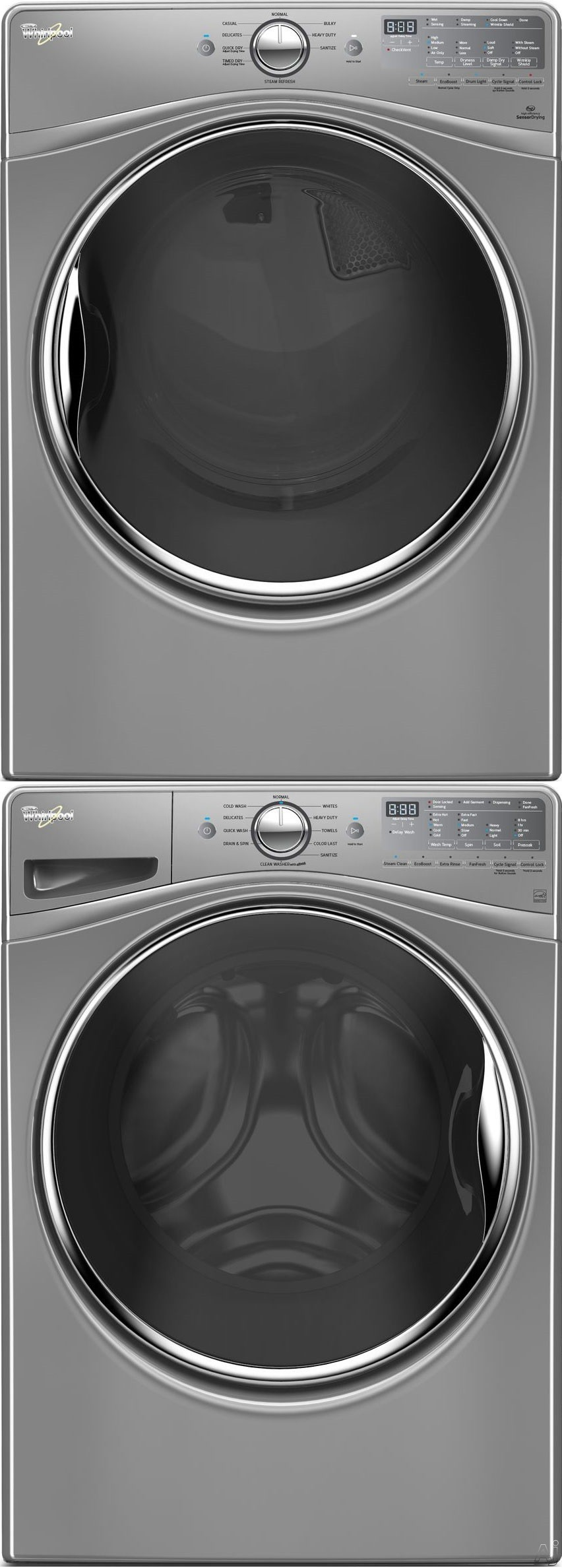 dryer electric white and laundry appliances load ft pedestal washer brick cu whirlpool pairs package product front duet the