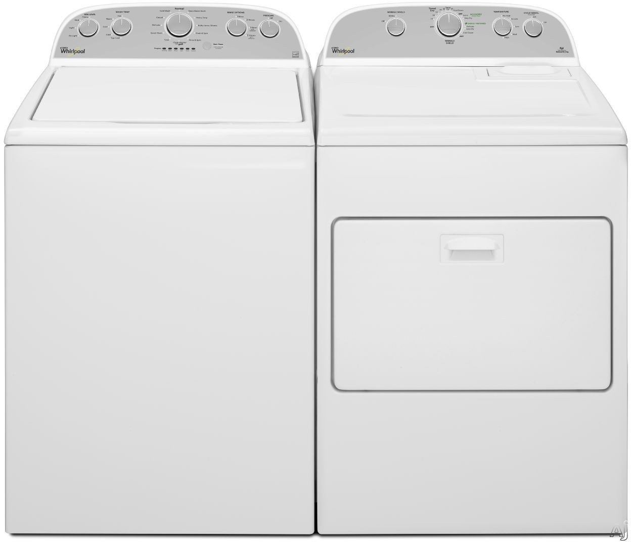 Whirlpool WPWADREW25 Side-by-Side Washer & Dryer Set with