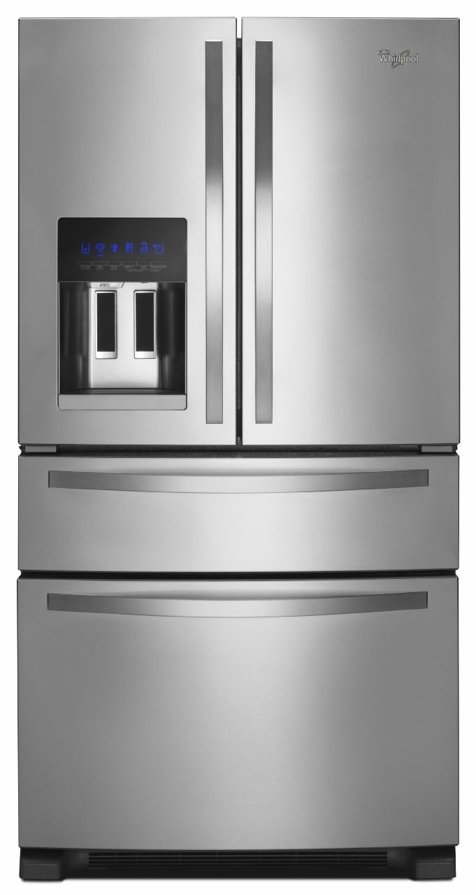 Whirlpool Wprera2 2 Piece Kitchen Appliances Package With French Door Refrigerator And Gas Range In Stainless Steel