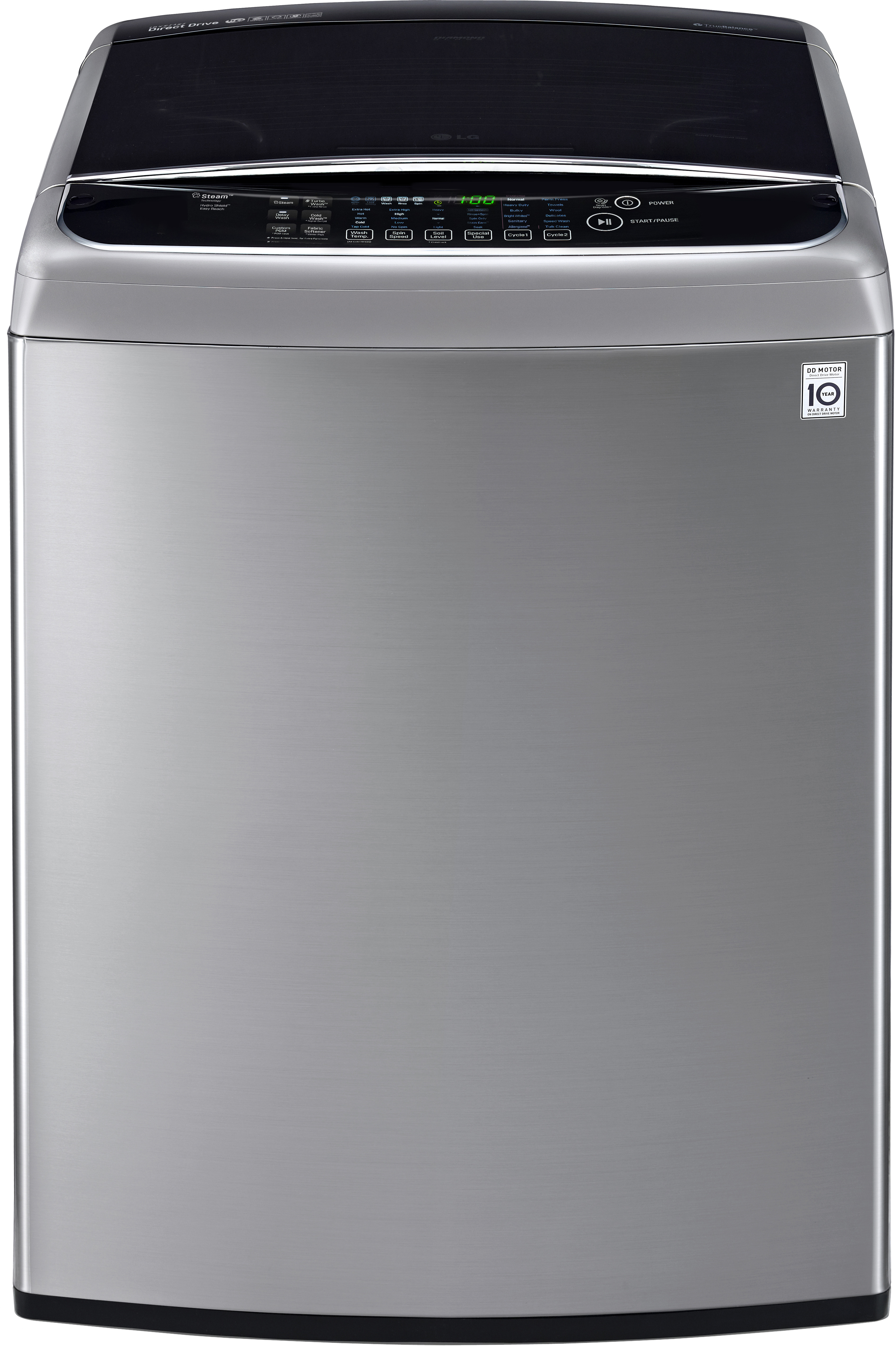 Lg Wt1801hva 27 Inch 5 0 Cu Ft Top Load Washer With 12