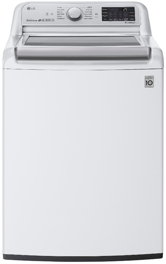 Image of LG TurboWash 5.5 Cu. Ft. Top Load Washer WT7800CW