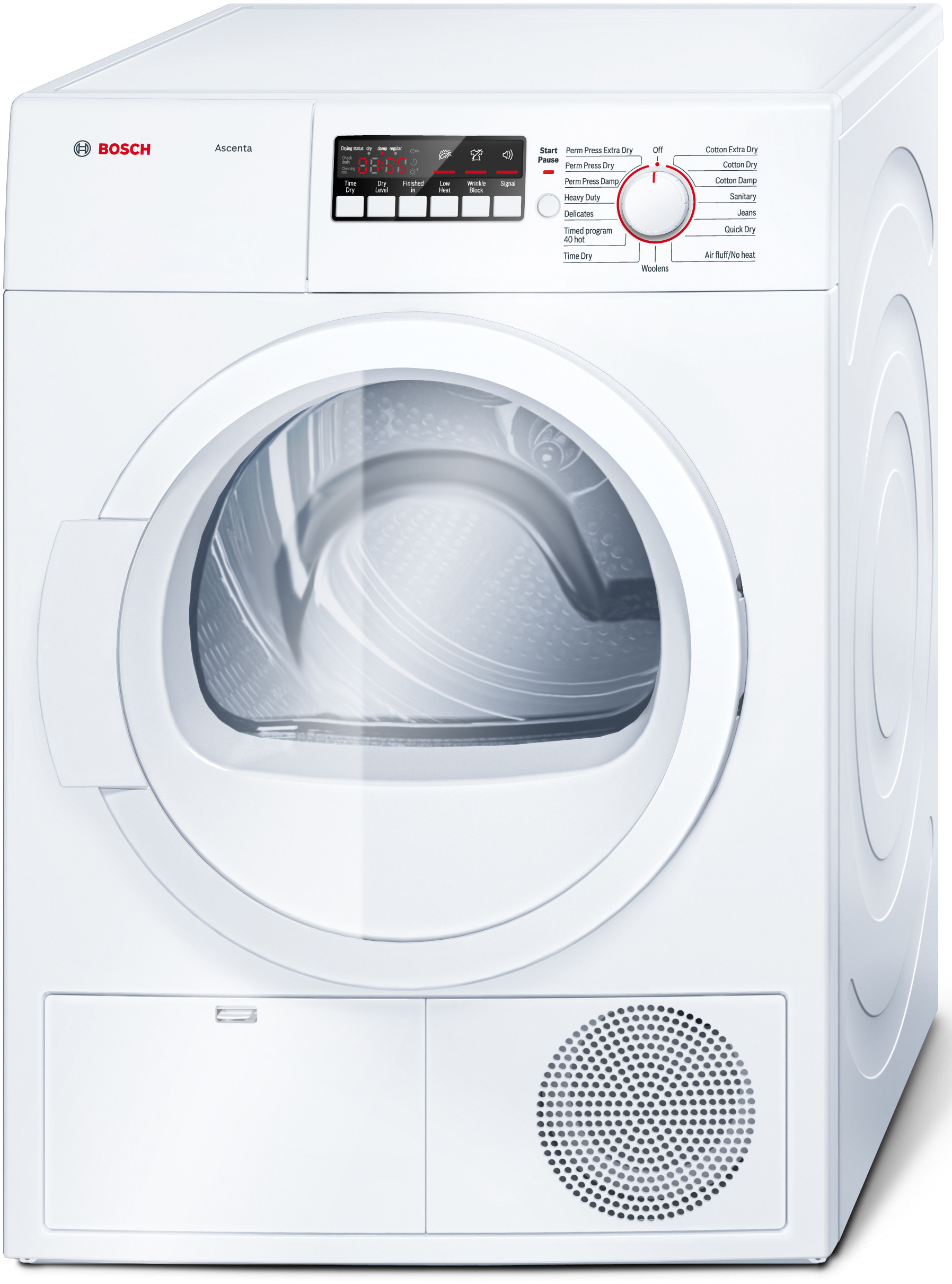 Bosch WTB86200UC 24 Inch 4.0 cu. ft. Electric Dryer with 15 Dry Cycles, 4  Temperature Selections, Quick Dry, Sanitary Cycle, AntiVibration Design, ...