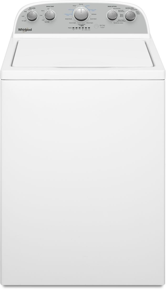 Whirlpool Washer With Agitator >> Whirlpool Wtw4955hw 28 Inch Top Load Washer With Dual Action