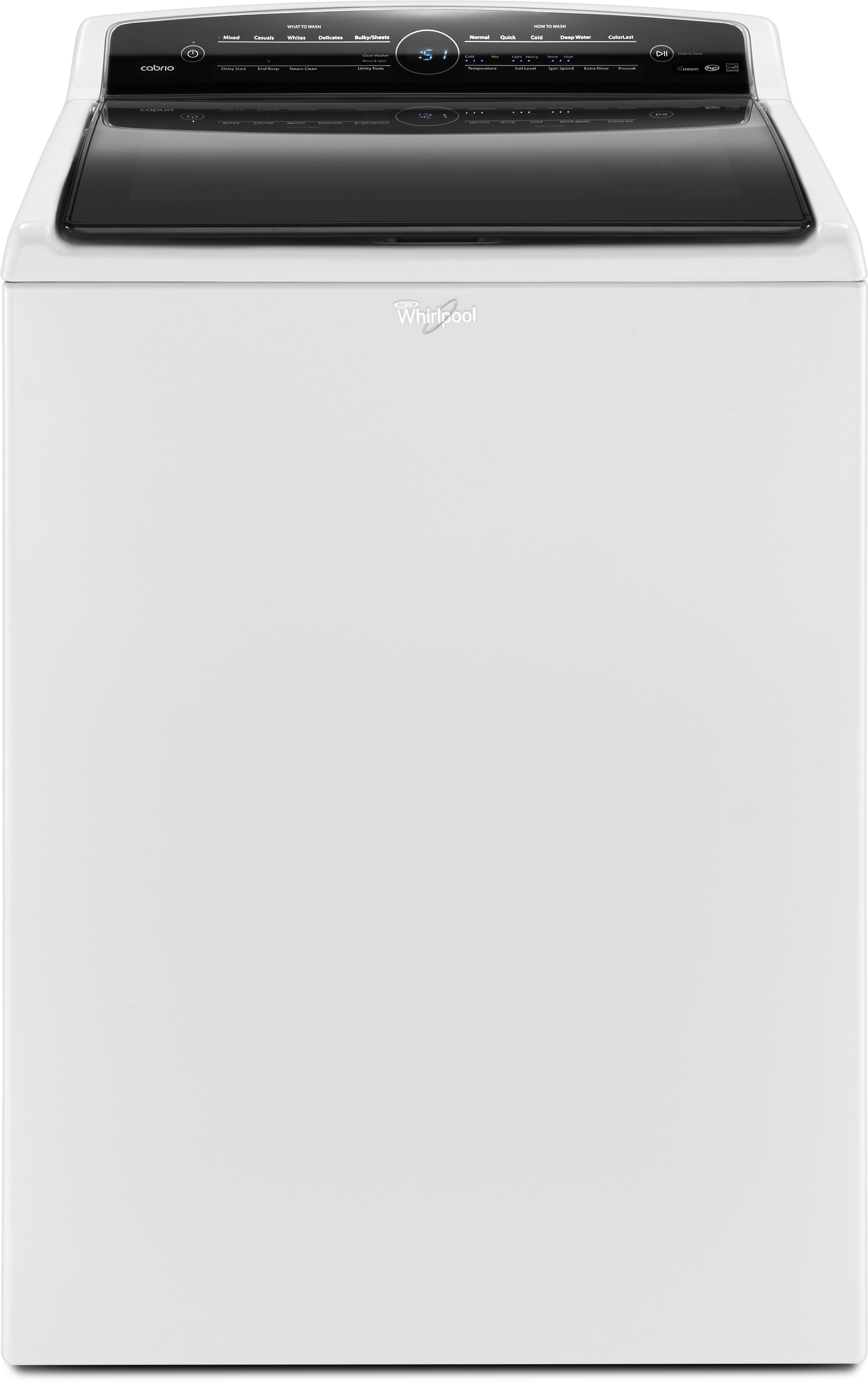 Whirlpool Wtw7300dw 28 Inch Top Load Washer With Steam Colorlast