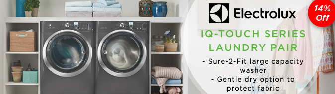 Electrolux Titanium IQ -Touch Series Front-Load Washer + Dryer Pair