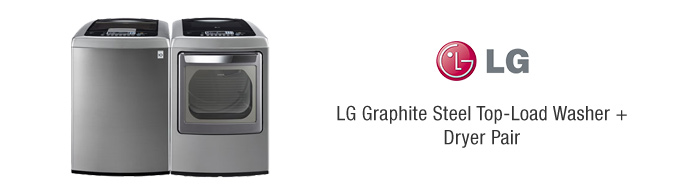 LG Graphite Steel Top-Load Washer + Dryer Pair