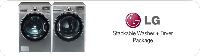 LG Stackable Washer and Dryer Pair WM3470HVA - Graphite