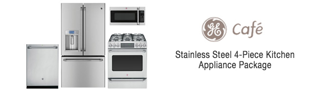 ge cafe series 4 piece kitchen appliance package