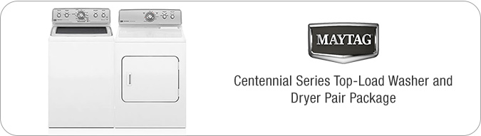 Maytag Centennial Series Top-Load Washer and Dryer Pair