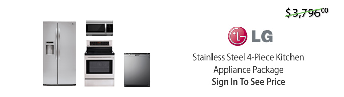 LG Stainless Steel 4-Piece Kitchen Package