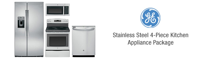 ge stainless steel 4 piece kitchen appliance package package