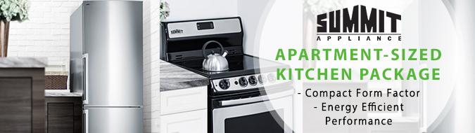 Summit 3 piece stainless steel apartment sized kitchen - 3 piece kitchen appliance package ...