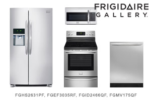 Frigidaire Gallery Side by Side Stainless Steel Kitchen Package