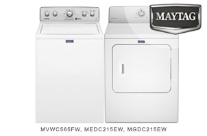 Maytag White Top-Load Laundry Pair