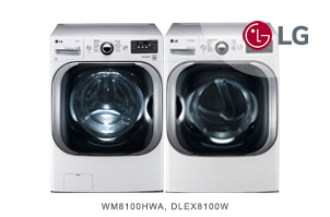 LG White Front-Load Laundry Pair