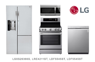 LG Stainless Steel Kitchen Appliance Package