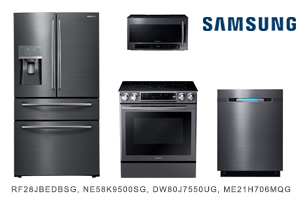 Samsung Black Stainless Steel Kitchen Appliance Package