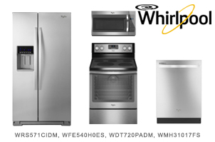 Whirlpool Stainless Steel 4-Piece Kitchen Appliance Package