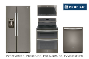 GE Profile Series Slate Kitchen Appliance Package