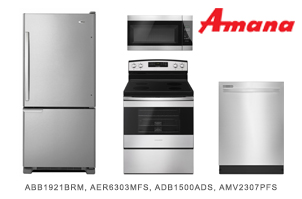 Amana Stainless Steel Kitchen Appliance Package
