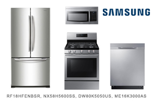 Samsung Stainless Steel Kitchen Appliance Package