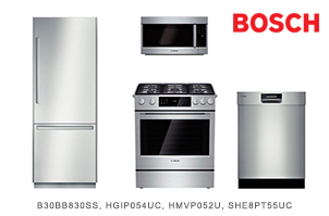 Bosch Benchmark Stainless Steel Kitchen Appliance Package