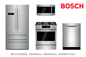 Bosch 800 Series Stainless Steel Kitchen Appliance Package