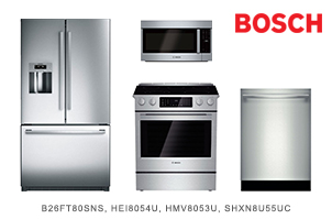 Bosch 800 Series Stainless Steel 4 Piece Kitchen Appliance Package