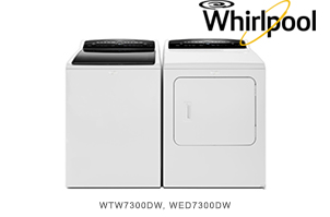 Whirlpool White Top Load 28 Inch Laundry Pair
