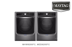 Maytag Metallic Slate Front Load 27 Inch Laundry Pair