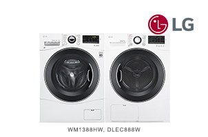 LG White Front Load 24 Inch Laundry Pair