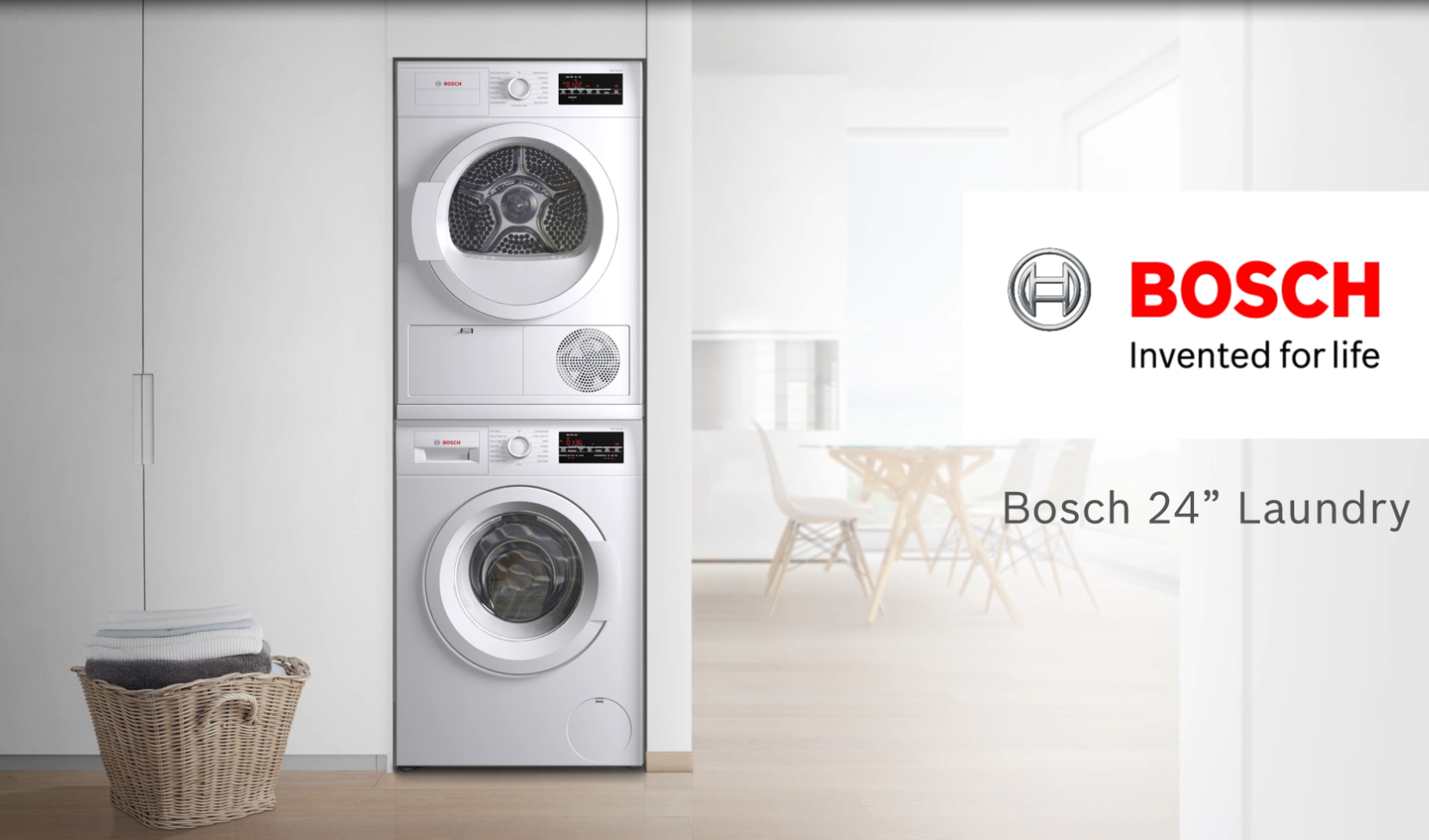Bosch Wtg86401uc 24 Inch Ventless Electric Dryer With Double Lint Filter Quick Dry Antivibration Design Condensation Drying Moisture Sensors