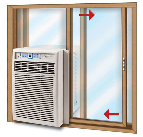Sliding window air conditioning units video search for Window unit ac