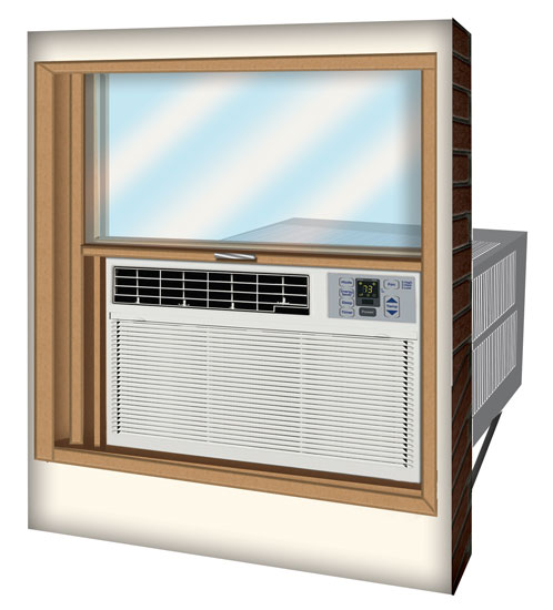 Beau ... Air Conditioner With A Window Kit, Itu0027s Important That You Account For  At Least Three To Four Inches For The Accordians To Fit Into The Space  Between ...